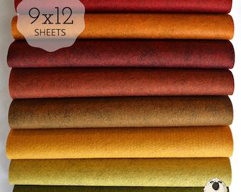 FALL HARVEST Felt Collection Wool Blend Felt Wool Felt Sheets Wool Felt Fabric Fall Colors Felt Fabric Wool Felt Felt Collections Fell Felt