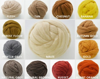 New WILDE ROMNEY WOOL Roving, Wool Roving Select Your Color 1 oz., Dry Wet Felting, Spinning,  Wool Roving Weaving,  Needle Felting Supplies