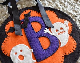 BOO Wall Hanging, Penny Rug Kit, Wool Felt Applique Kit, Wool Applique Kit, Halloween Applique Kit, Halloween Felt Crafts, Halloween Crafts
