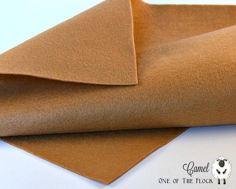 Wool Felt Fabric Wool Blend Felt Beige Felt Fabric Merino Wool Blend Felt Wool Felt Yardage Camel Wool Felt Beige Felt Yardage