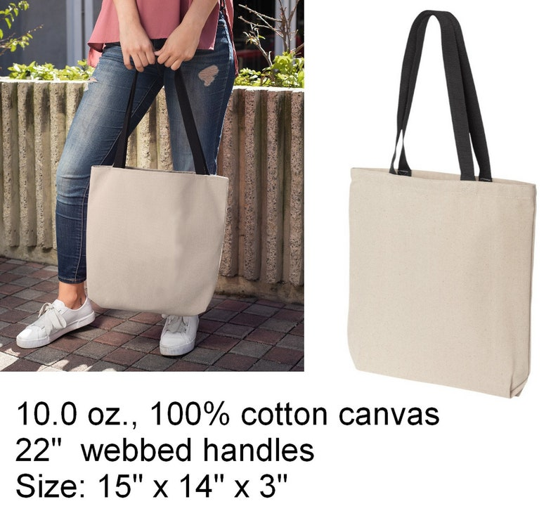 Book Bag I/'d Rather Be Reading Cotton Canvas Tote Bag Grocery Shopper Purse
