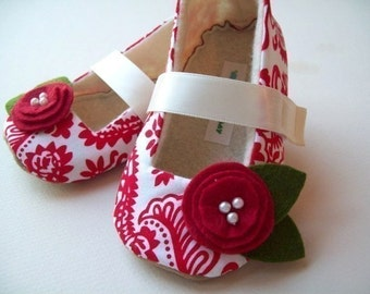 Ruby Red Slippers - Damask Maryjane