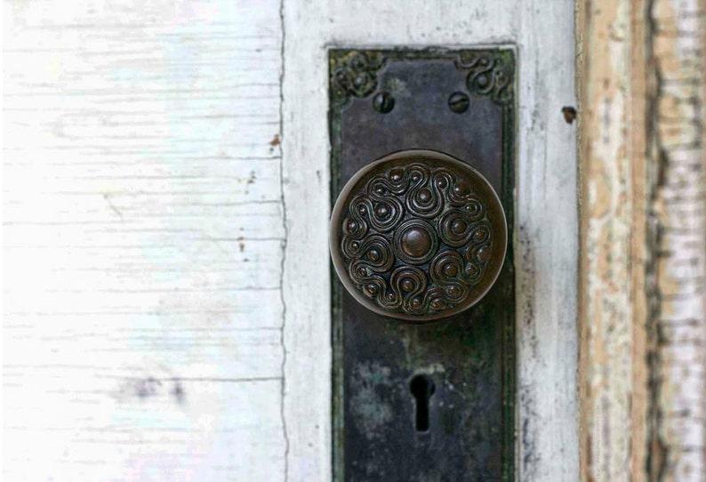 Photo of Detailed Vintage Doorknob  5x7 Architectural Detail image 0