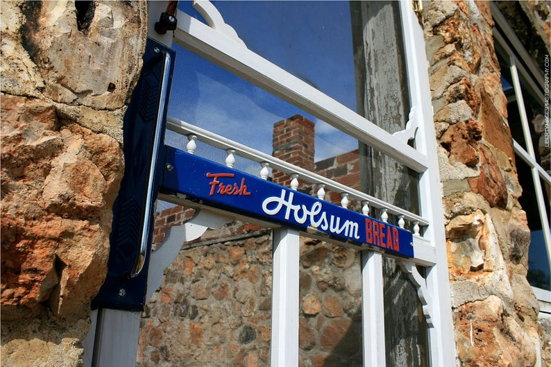 Holsum Bread Door Sign Photograph  Route 66 Documentary image 0