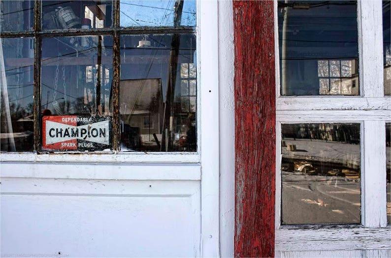 Abandoned Garage Detail Photo  Deserted Filling Station image 0