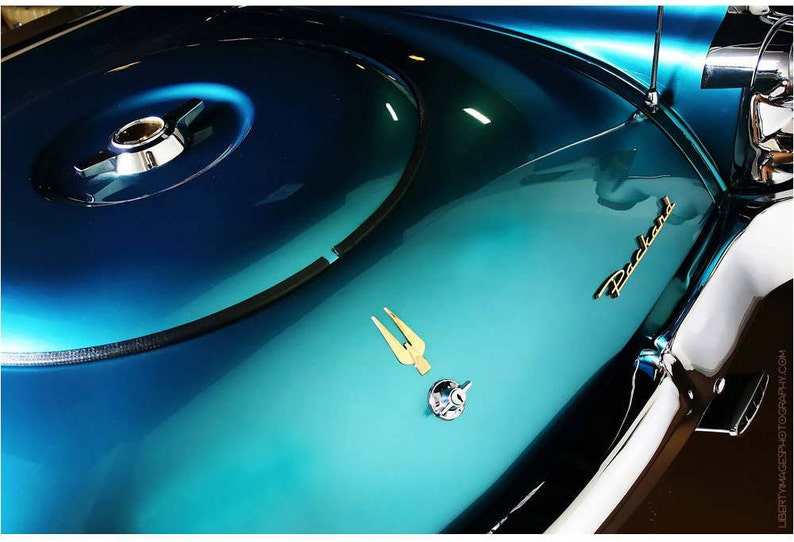 Turquoise Packard Detail Photo  Liberty Images Classic Car image 0