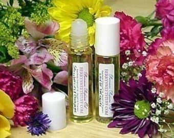 Pure Rose Perfume Oil - Vegan Fragrance Scent Roll on Fresh - Best True Rose Floral Perfume Scented Cologne Handmade Oil BERRYSWEET STUFF