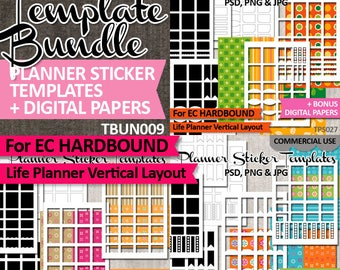 DIY Planner stickers, templates bundle sale / Erin Condren Hardbound Life Planner Vertical Layout / Commercial use kit, download