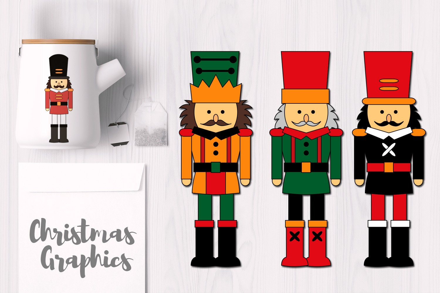 Christmas Nutcrackers clip art and digital stamps nutcracker | Etsy