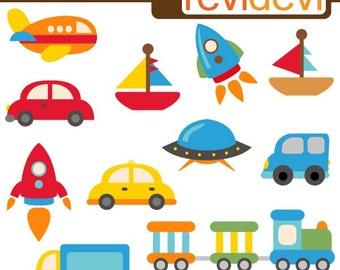 Best selling transportation clipart sale, commercial use / plane, train, boat, rocket, car. Cute clipart, Vehicle parade clip art download