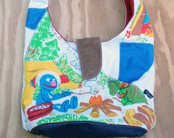 Colorful Petite Purse From Vintage S. Street Camping Scenes