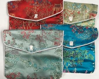 5405b86dfa32 Silk brocade pouch | Etsy