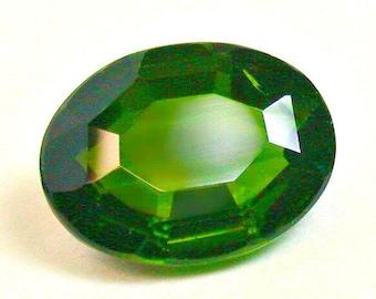 VINTAGE CHROME DIOPSIDE Faceted Gemstone oval 1.93cts fg225