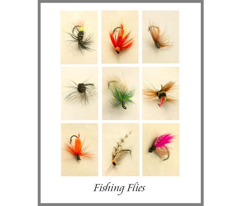 Männer Geschenk Fliegenfischen Kunstdruck 8 x 10 Angeln   Etsy