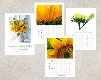 2022 Sunflower Calendar, Desk Calendar 5 x 7, Wall Calendar 8 1/2 x 11, 2022  Flower Photo Calendar