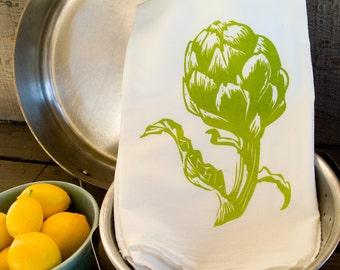 KTV1: Artichoke Flour Sack Kitchen Towel
