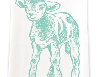 KTFARM4: Little Lamb Flour Sack Kitchen Towel