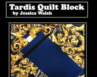 Tardis Quilt Block Pattern