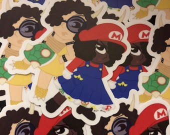 Mario and Bowser Cosplay Stickers