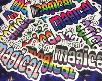 I Am Magical Queer Stickers