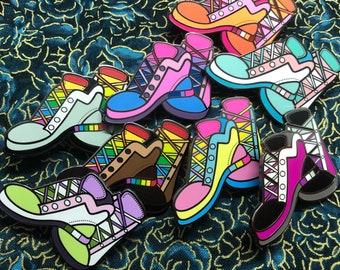 Queer Kicks Enamel Pins