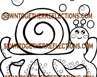 Friendipals: Octosnail Coloring Page