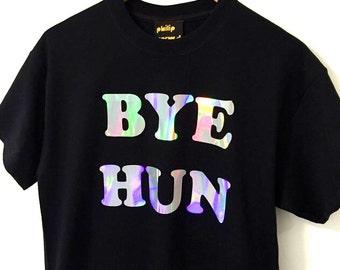 c6c6338b798 BYE HUN holographic print t-shirt - black