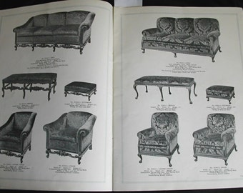1930s Upholstery DeLuxe The Vogue In Living Room Furniture Catalog No. 25