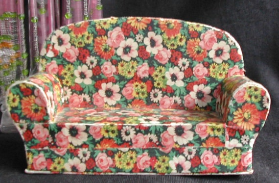 Stunning Art Deco Chintz Floral Miniature Doll House Furniture Etsy