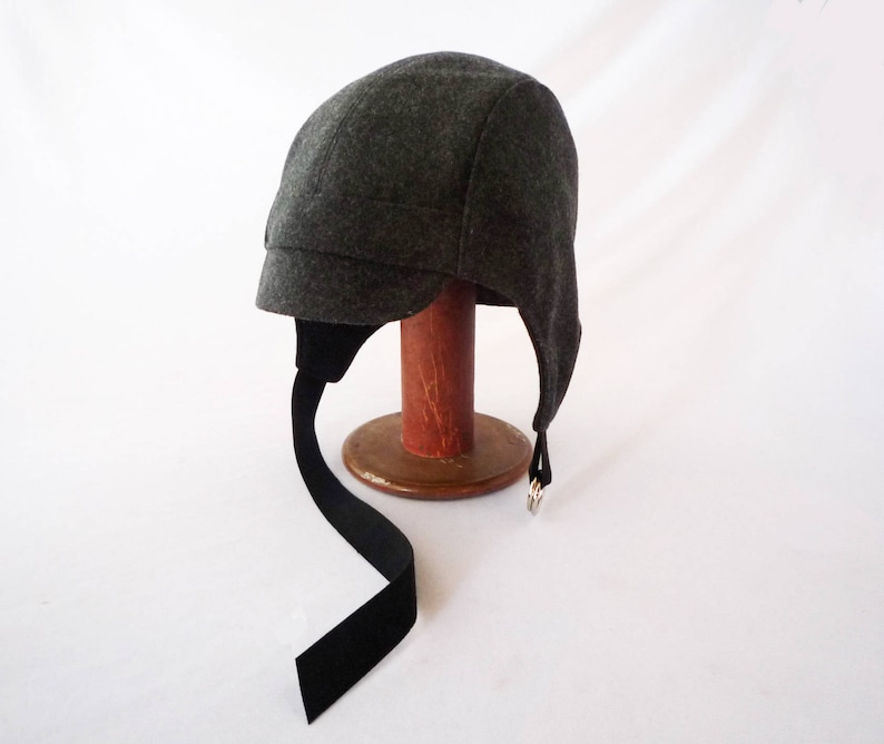 ef33814a9fe Aviator Hat Felted Wool Charcoal Gray Men s Hat