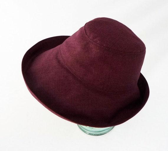7c9e7f772cf878 Womens Sunhat Summer Hat Beach Hat Burgundy Maroon | Etsy