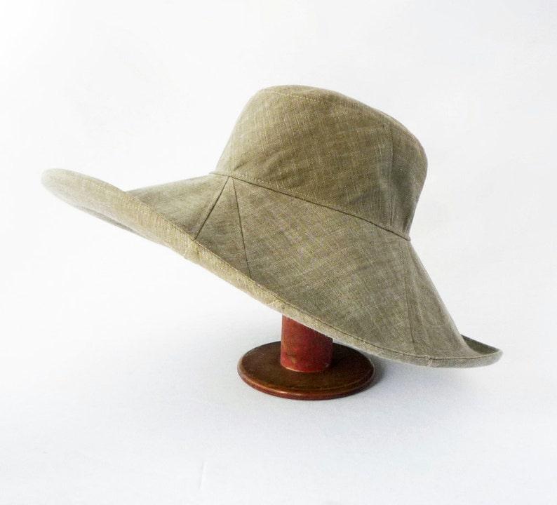998539c2c35 Womens Floppy Hat in Pale Green Cotton Resort Hat Sunhat