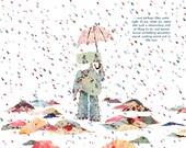 Walking Alone in the Rain
