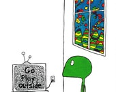 Go play outside - print of original illustration by seth