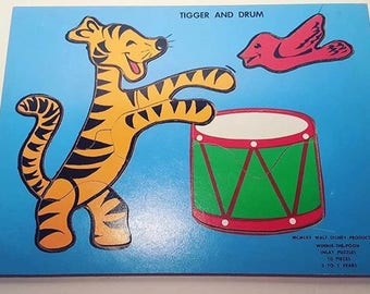 Vintage tigger and drum tray puzzle