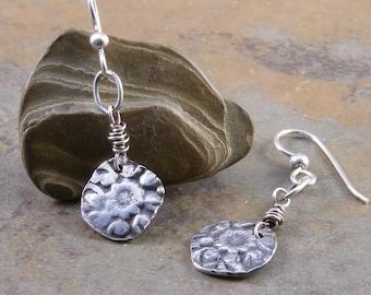 Sterling Silver Handcrafted Flower Earrings