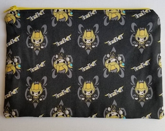 Master of Mischief   Lined Zippered Fabric Pouch