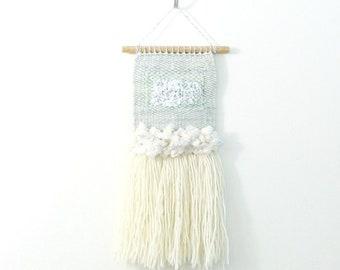 sage and willow.  .. mini wall hanging, weave, woven, wall art, wall decor, nursery art decor, home, living wall art,