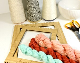 old road ... handspun yarn set, weaving creative yarn bundle, hand spun, hand dyed yarn, handspun art yarn