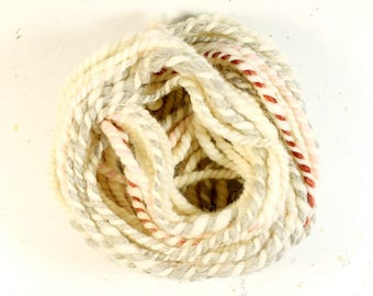 oatmeal 4   ... handspun yarn set, weaving creative yarn bundle, hand spun, hand dyed yarn, handspun art yarn