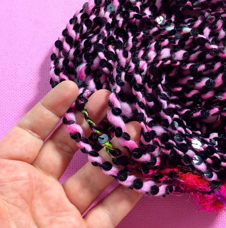hello kitty 1  .... merino wool handspun yarn hand spun image 0