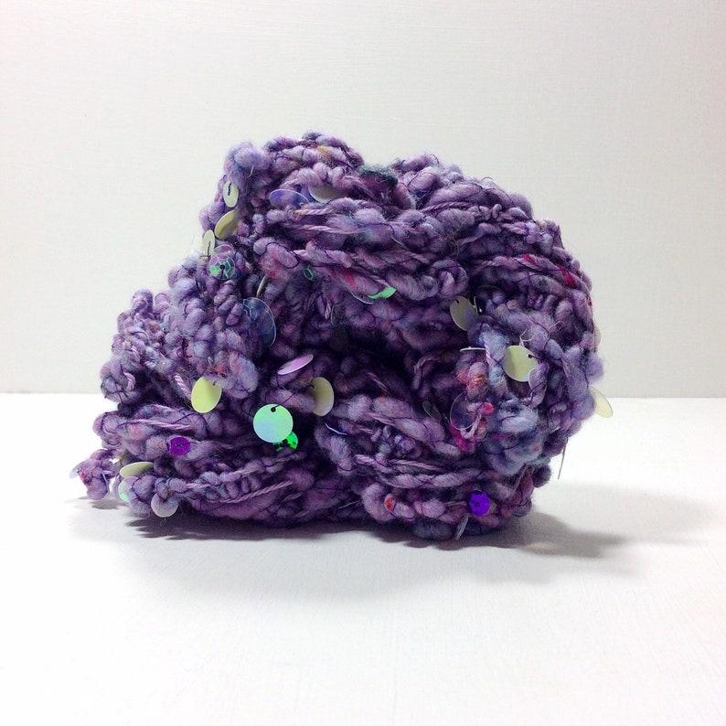 Iris .. hand spun yarn art yarn handspun art yarn wool image 0