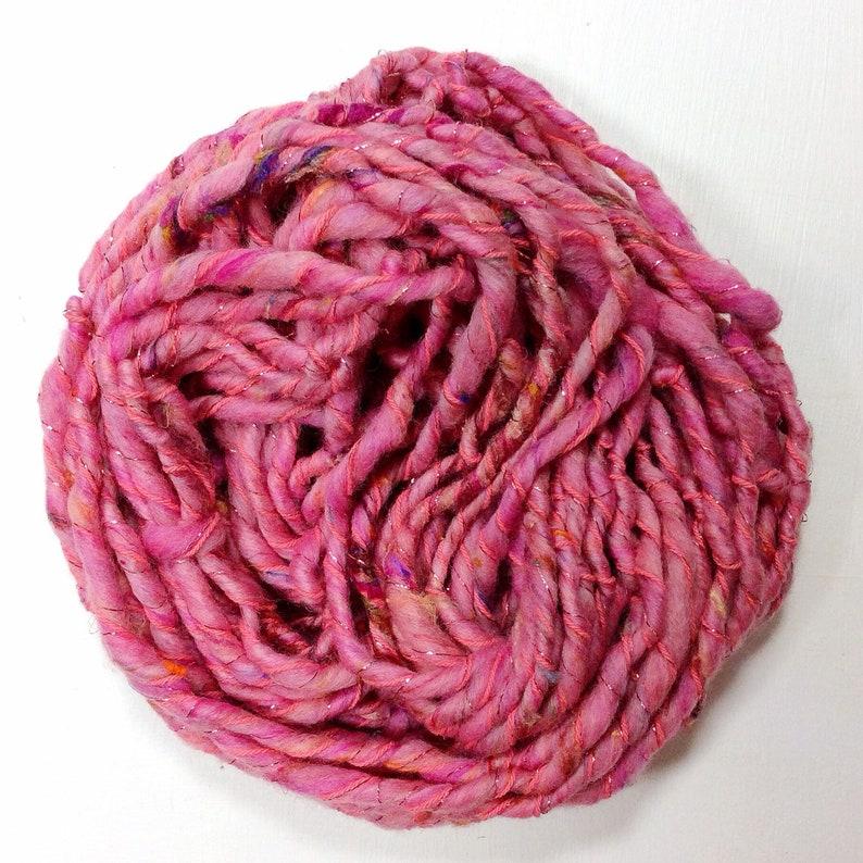 hand spun yarn art yarn handspun art yarn wool yarn boucle image 0