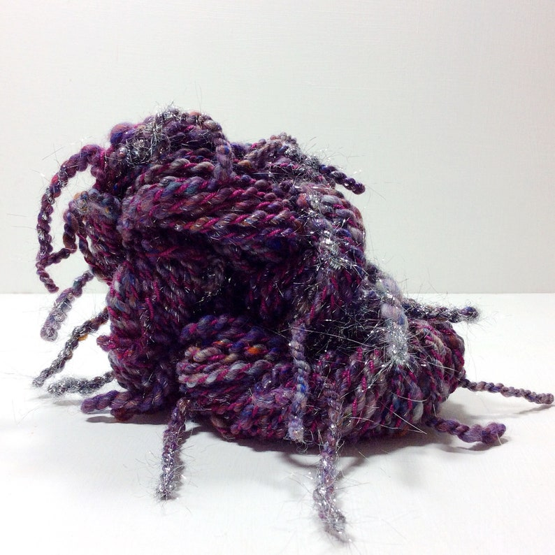 Squiggle .. hand spun yarn art yarn handspun art yarn wool image 0