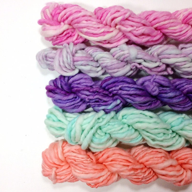 wool yarn hand dyed yarn art yarn weaving yarn set yarn image 0