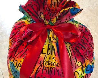 Birthday Gift Bag Extra Large Reusable Eco Friendly Cotton