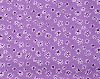 Purple tiny floral fabric - 1 yard x 43 inches - more available