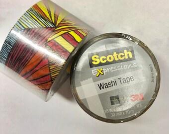 2 pk Washi Tape Mix Scotch Expressions bold print roll geometric 1.18 inch x 393 inches (30 mm x 10 m)