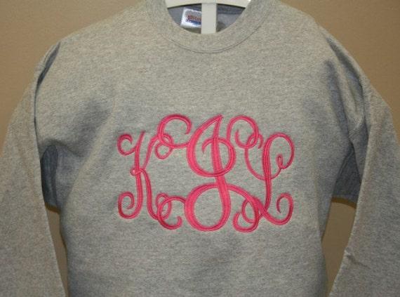 Monogram Sweatshirt-Big Monogram Sweatshirt-Plus Size Sweatshirt 5x SALE Monogrammed Sweatshirt-Personalized Sweatshirt-Sizes Small