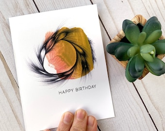 Birthday Card for Her - Happy Birthday - Birthday Card for Mom - Birthday Card for Friend - Modern Birthday